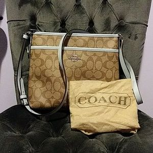 NWOT Totally clean Coach bag. Tried on never worn.